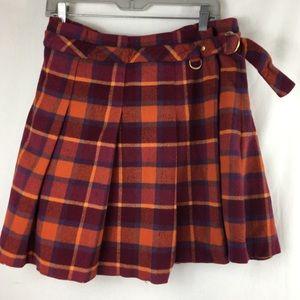 Escada sport plaid warp skirt size 48  ( large )
